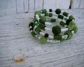 One-of-a-kind felted wool bracelet