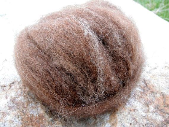 Ultra-Soft & Lofty Icelandic Shetland Brown Roving, 2 oz.