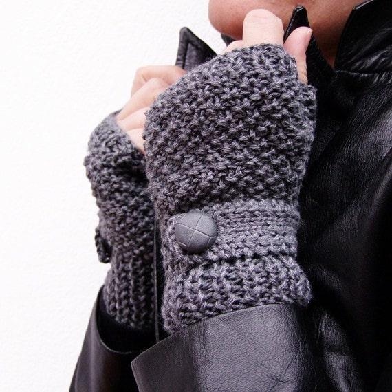 Fingerless gloves in Grey