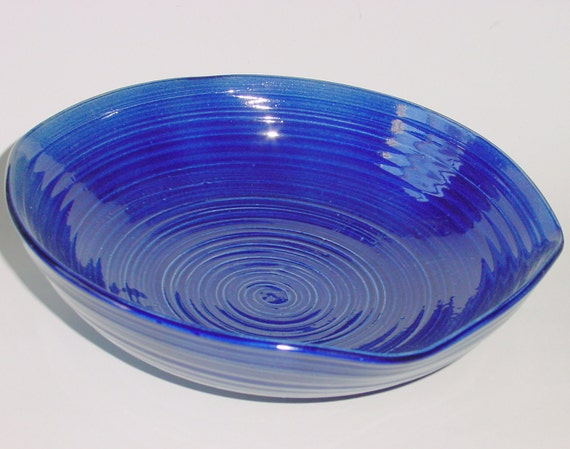 Royal Blue Pottery Serving Bowl