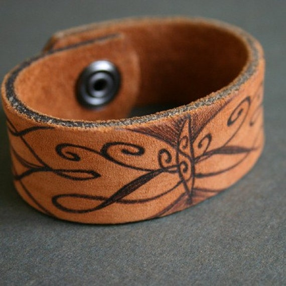 Butterfly Leather Cuff Bracelet, Recycled Belt, Upcycled, Refurbished, Flying Insect, Wings