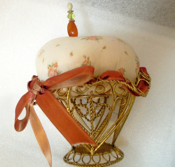 Peaches and Cream Pincushion by Practical Elegance