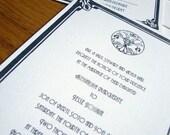 Letterpress wedding invitation sample - Unit i Press - www.unitipress.com