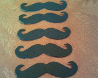 Adhesive Black Foam or Felt Mustaches (10pk), Moustaches, Fake Mustache, Adhesive Moustache, Mustache Bash, Party Favors, Mustache Party