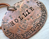 Rustic Copper Oval Tag