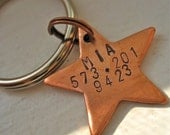 Copper Shining Star Pet Tag