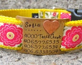 Custom pet ID quiet collar tag - I'm Loved