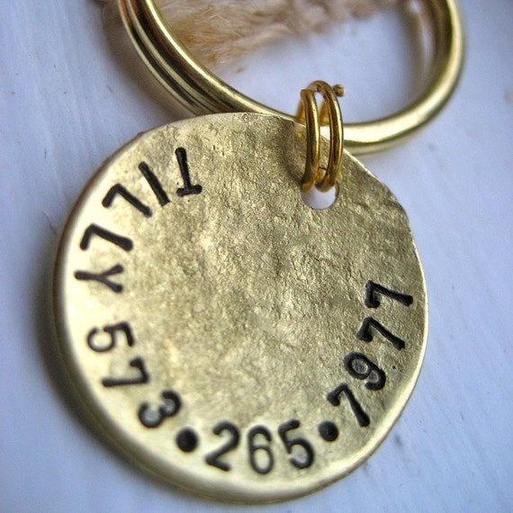 1 inch Tilly Tag with two numbers