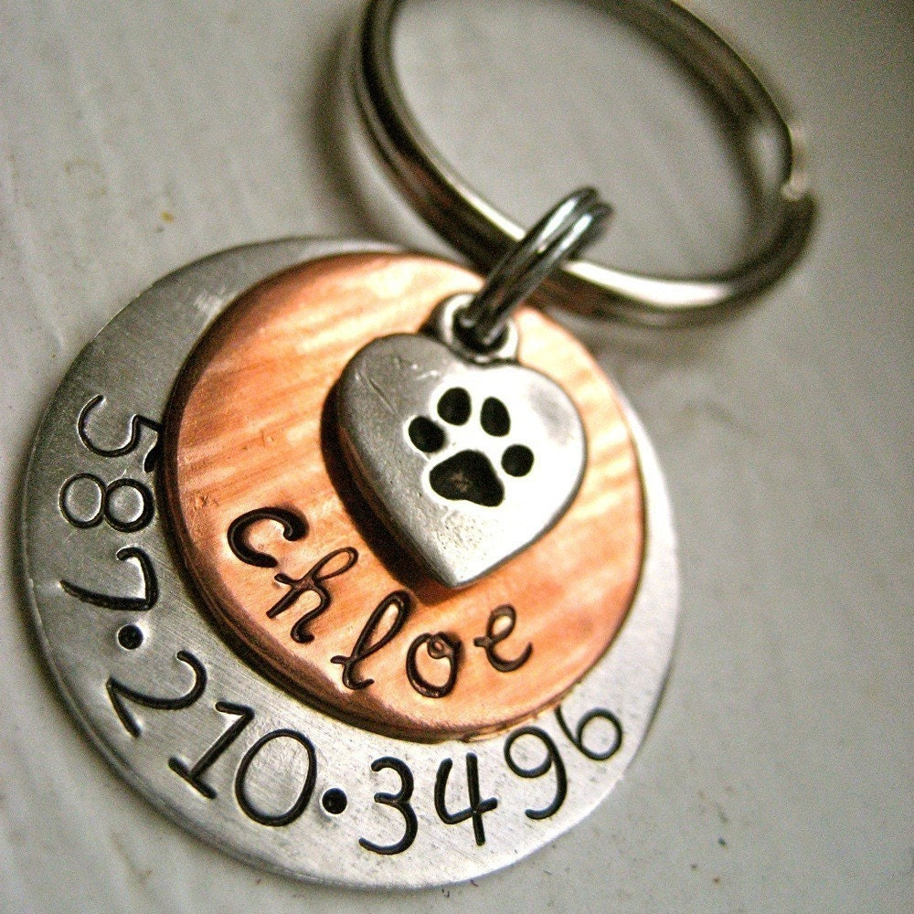 chloe tag handmade pet tags pet id tags dog id by. Black Bedroom Furniture Sets. Home Design Ideas