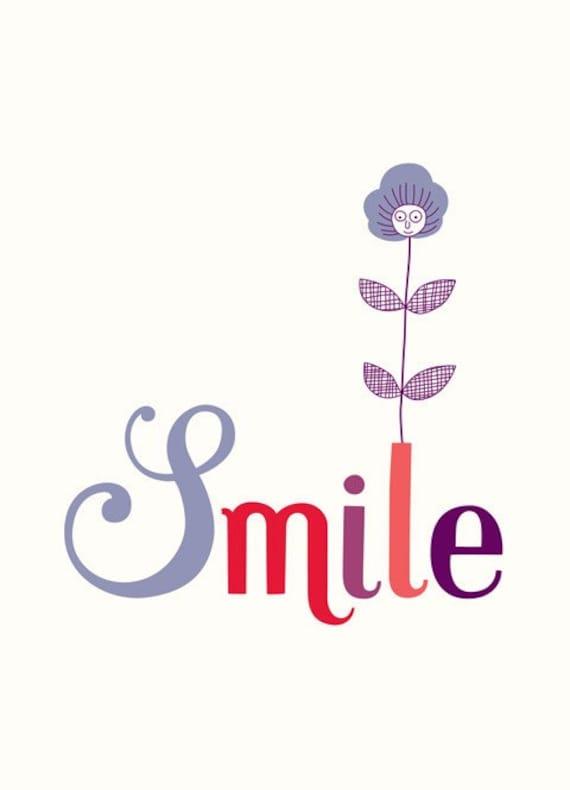 Smile - digital print