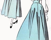 1940s Full Skirt with Shaped Belt Advance 4937 Womens Vintage 40s Sewing Pattern Size 26 Hip 35