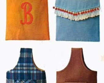 1960s Sling Handbag Purse McCalls 6794 with Alphabet Transfer Vintage 60s Sewing Pattern