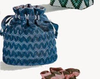 Vintage 1950s Purse Bag Handbag Sewing Pattern McCalls 1724 Drawstring Huck Weaving Vintage 50s Sewing Pattern UNCUT FF