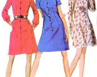 Vintage 60s MOD Mini Dress Sewing Pattern McCalls 2015 Size 12 Bust 34