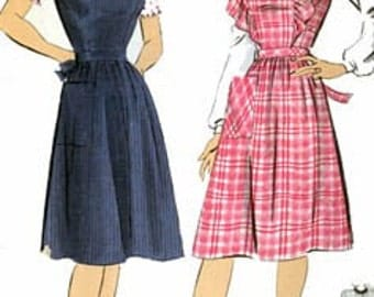 Vintage 1940s Pinafore and Blouse Sewing Pattern  Hollywood Pattern 1196 Womens Vintage 40s SWING ERA Sewing Pattern Size 18 Bust 36