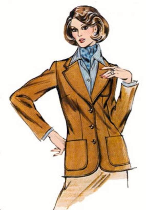 Vintage Sewing Pattern Kwik Sew 121 Womens Blazer 14-18  UNCUT