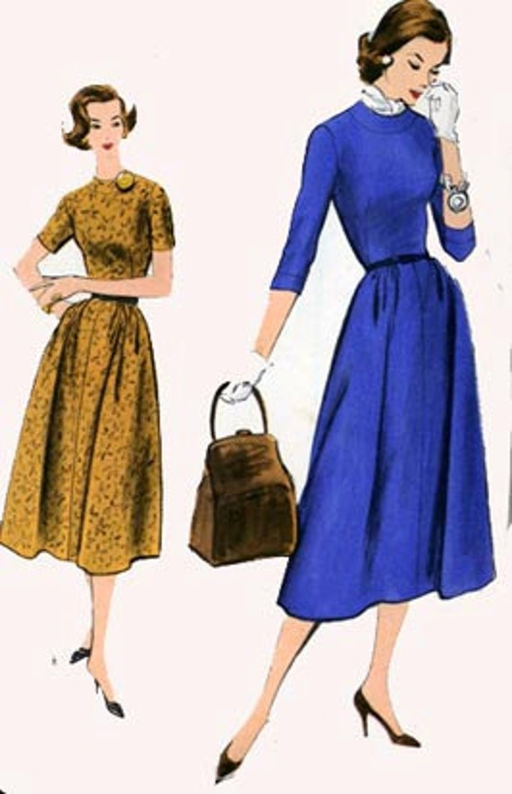 Vintage 50s Sewing Pattern VOGUE 9284 One Piece Dress Size 16 Bust 36