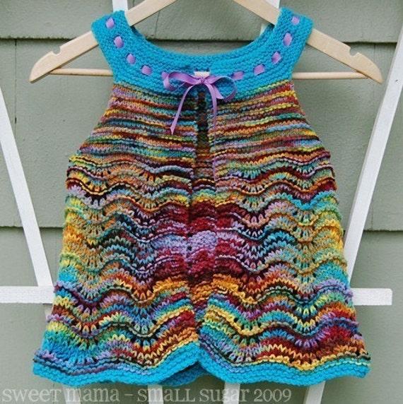 Knitted Pinafore Dress Pattern Free : Hanspun Pinafore Knitting Pattern
