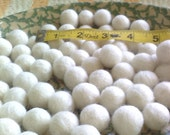 12 SUPER BABY White Perfect Circle Felt Balls -22 mm to 24 mm costume fashion design art and bead
