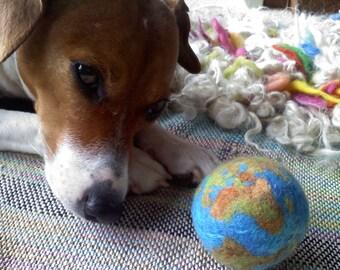 1 BIG MOM 50 mm, 2 inch wide Earth Ball- Merino Wool handmade felt supply