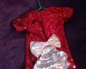 Glitsy Red Doll Dress