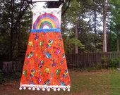 Girl's Upcycled Vintage Rainbows & 70s Apron