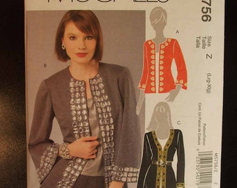 McCall's Uncut Pattern for Crafty Cardigans size Z