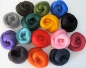Design Your Own Wool Sampler - 1oz - Pick 4 Colors of Dyed Corriedale (.25oz each)