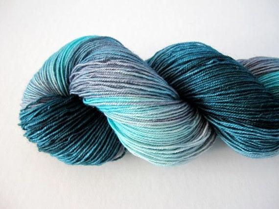 Great Skeins in Turquoise & Spruce - 500 yards of Handpainted Sock Yarn