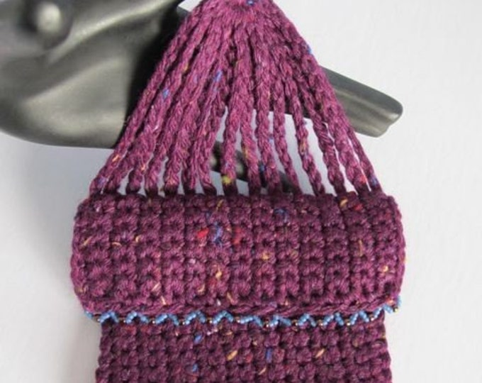 One Sided Miser's Purse PDF Crochet Pattern (A Vintage Reproduction)