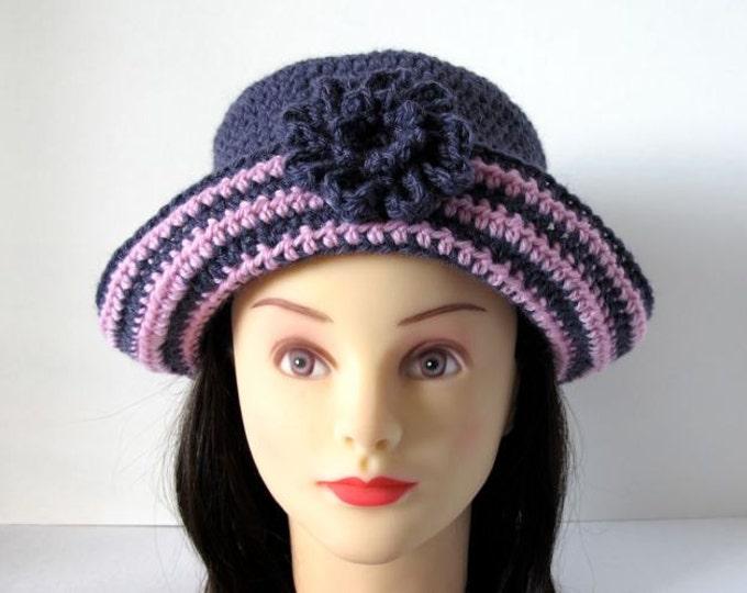 Playful Stripes Girl's Hat - PDF Crochet Pattern