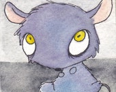 Snivvels considers what he wants for dinner- Original ACEO
