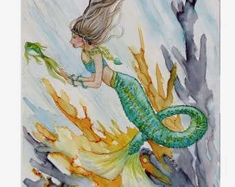 Mermaid Swimming with the Fishes