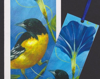 Baltimore Oriole Card and Bookmark Set