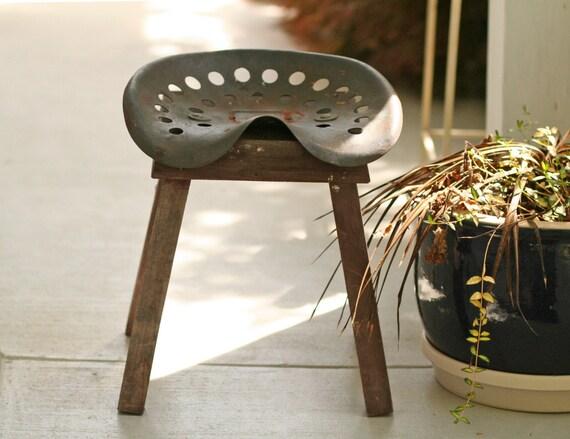 Vintage Cast Iron Tractor Seat Garden Stool By Modishvintage