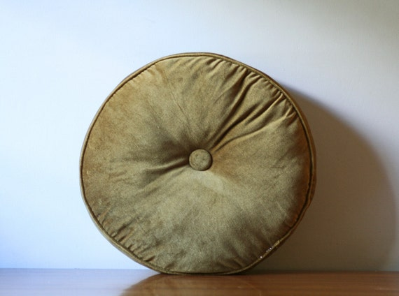Tufted Round Decorative Pillow : vintage tufted round accent pillow by ModishVintage on Etsy