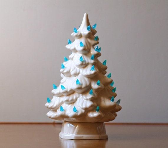 Seattle Christmas Tree Lighting: Lighted White Ceramic Christmas Tree 4 By ModishVintage On
