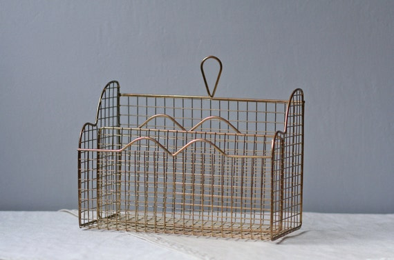 metal letter holder vintage wire metal letter holder by modishvintage on etsy 16618