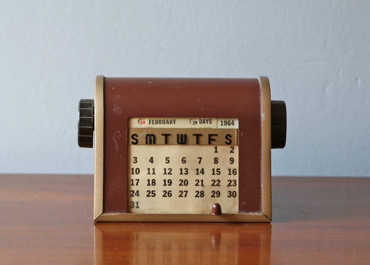 Calendar Vintage : Vintage perpetual desk calendar no