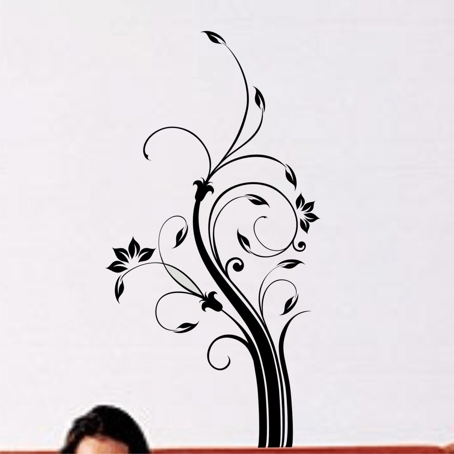 Items similar to Wall Decal Floral Motif Nature Wall Decor