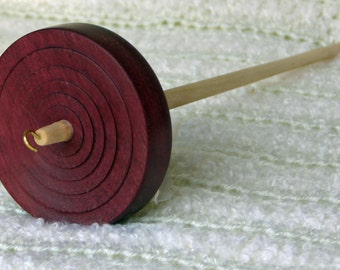 Purple Heart Flat Top Drop Whorl Spindle