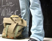 Rugged Messenger Satchel Leather details travel features