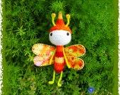 Orange Dragonfly Amigurumi
