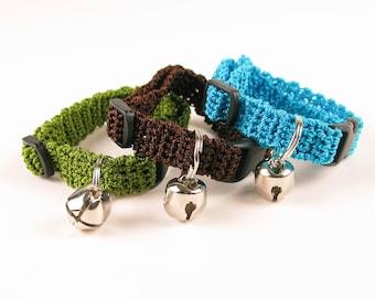 Crochet Kitty Cat Collar Pattern - Digital Download PDF Crochet Pattern