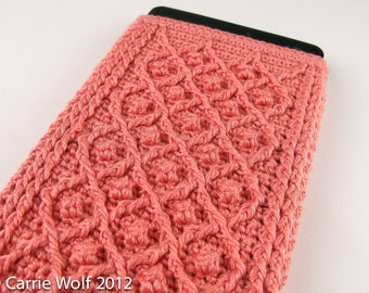 Crochet Pattern Kindle Fire Cover Summer and Winter Rose Trellis Pattern - Digital Download PDF Crochet Pattern