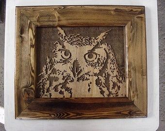 Owl Scroll Saw Art