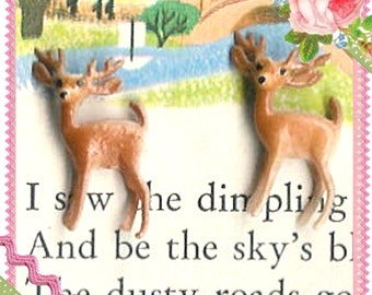 In the Meadow...Tiny Little Deer Figurines