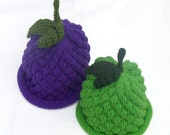 Knit Fruit Hats 2 PK Grapes - Infant Sizes Perfect for use as Photography Prop and Gift Giving