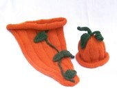 Cute as a Pumpkin Picture Pod Cocoon with Matching Hat for Professional Newborn Portraits