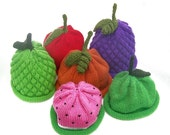 Knit Fruit Hats Mix and Match 4 Pack Infant Sizes - You Pick Great for Gift Giving and Professional Photography Portraits